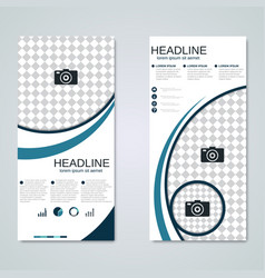 modern roll-up banner design template vector image