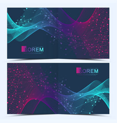 Modern templates for square cover brochure vector