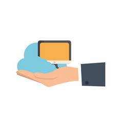 monitor computer icon vector image