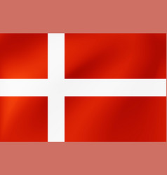 national flag denmark for sports competition vector image