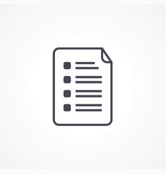 notepad paper icon vector image