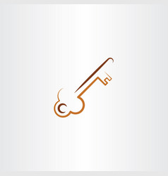Old skeleton key icon vector