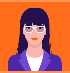 portrait a beautiful asian businesswoman in vector image