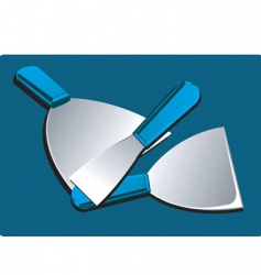 Putty blades vector