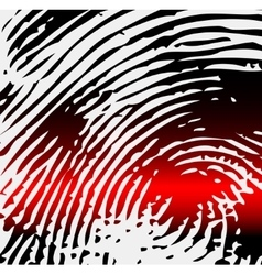 Ray scanner scan fingerprint vector image