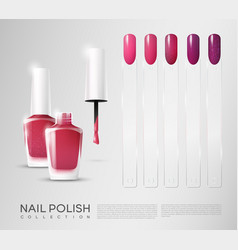 Realistic cosmetic nail polish set vector