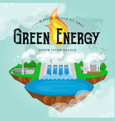 Renewable ecology energy icons green city power vector