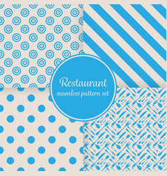 Restaurant or bistro theme blue stripes dots vector