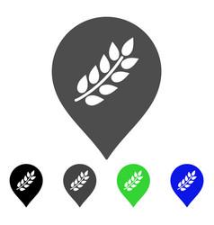 rice plantation marker flat icon vector image