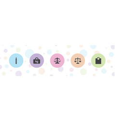 Scale icons vector
