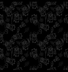 Seamless pattern outline 1 sketch on school theme vector