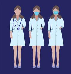 Set doctors character stop coronavirus concept vector