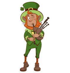 St patricks day man musician and bagpipes vector