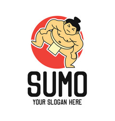 sumo logo with text space for your slogan vector image