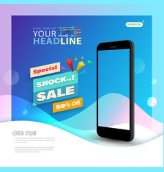 template technology with smartphone vector image