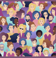 trendy gradient style people seamless vector image