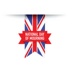 united kingdom national day of mourning flag vector image