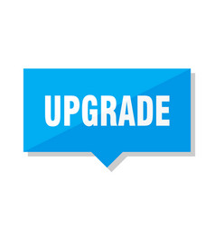 Upgrade price tag vector