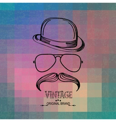 Vintage man elements vector