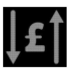 White halftone pound swap icon vector