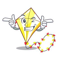 Wink kite small the cartoon on table vector