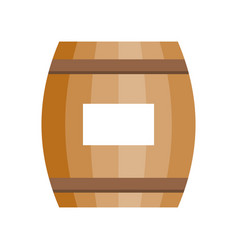 Wooden barrel icon for beer or wine vector