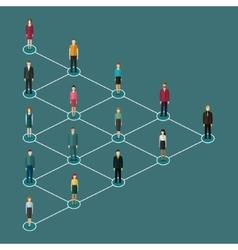 Concept of network marketing vector image vector image