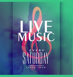live music event poster design template vector image vector image