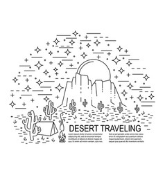 nightly desert template vector image vector image