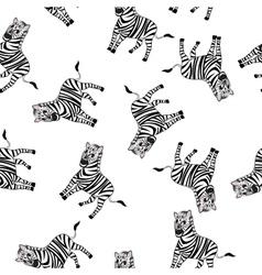 Seamless Funny Cartoon Zebra vector image vector image