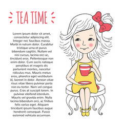 tea time template vector image