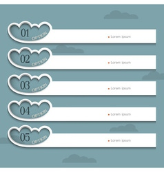 Creative Design template with stylized clouds vector image vector image