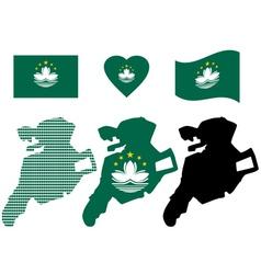 map of Macau vector image vector image