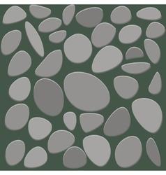 Stone floor tile on white background vector image