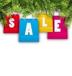 Abstract Background with Christmas Shopping Sale vector image vector image