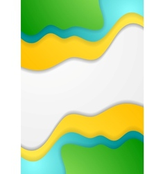 Bright corporate waves concept background vector image vector image