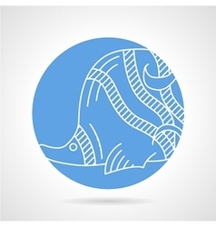 Butterflyfish round icon vector image vector image