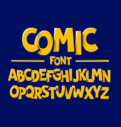 comics style font vector image