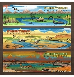 Dino banners 1 color vector image vector image