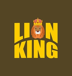 Lion King Wild predator and crown Royal hat and vector image vector image