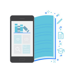 mobile application interface bookstore vector image