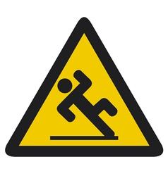 wet floor sign vector image vector image