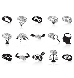 brain conceptual icons set vector image