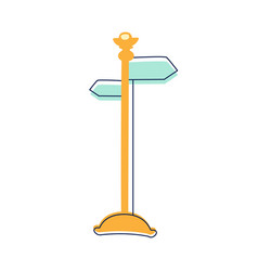 direction pointer street sign cute fairy tale vector image
