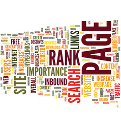 free web traffic through page rank text vector image