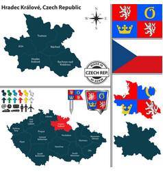 map of hradec kralove czech republic vector image vector image