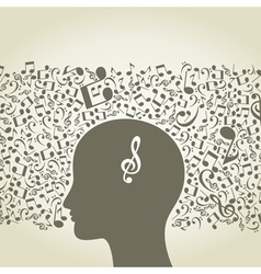Musical mind vector image