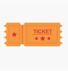 ticket icon in the flat style vector image