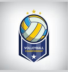 volleyball championship logo vector image