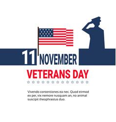 11 november veteran day banner design on white vector image